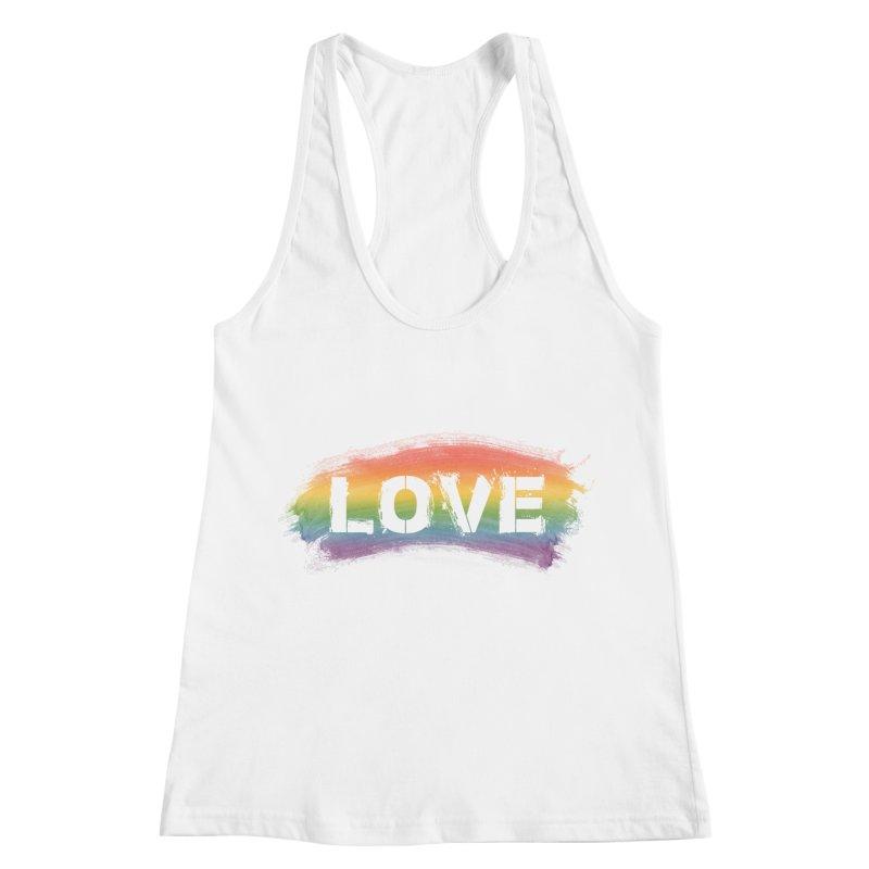 Colors of Love - White Women's Racerback Tank by boogleloo's Shop