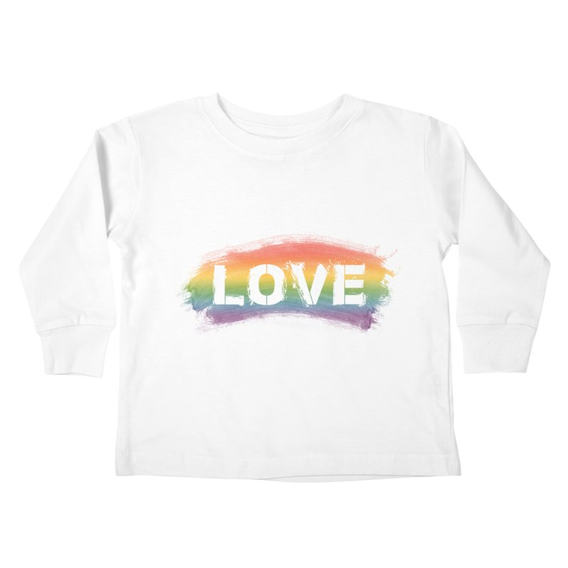 Colors of Love - White Kids Toddler Longsleeve T-Shirt by boogleloo's Shop