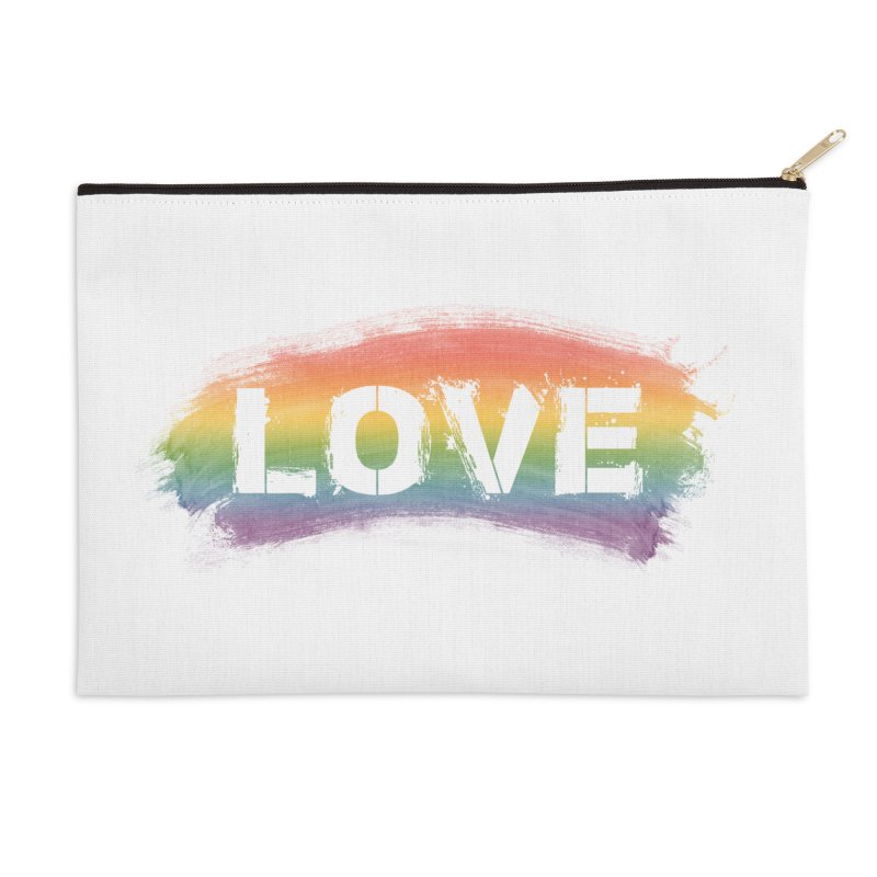 Colors of Love - White Accessories Zip Pouch by boogleloo's Shop
