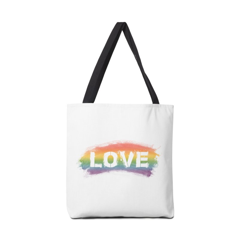 Colors of Love - White Accessories Tote Bag Bag by boogleloo's Shop