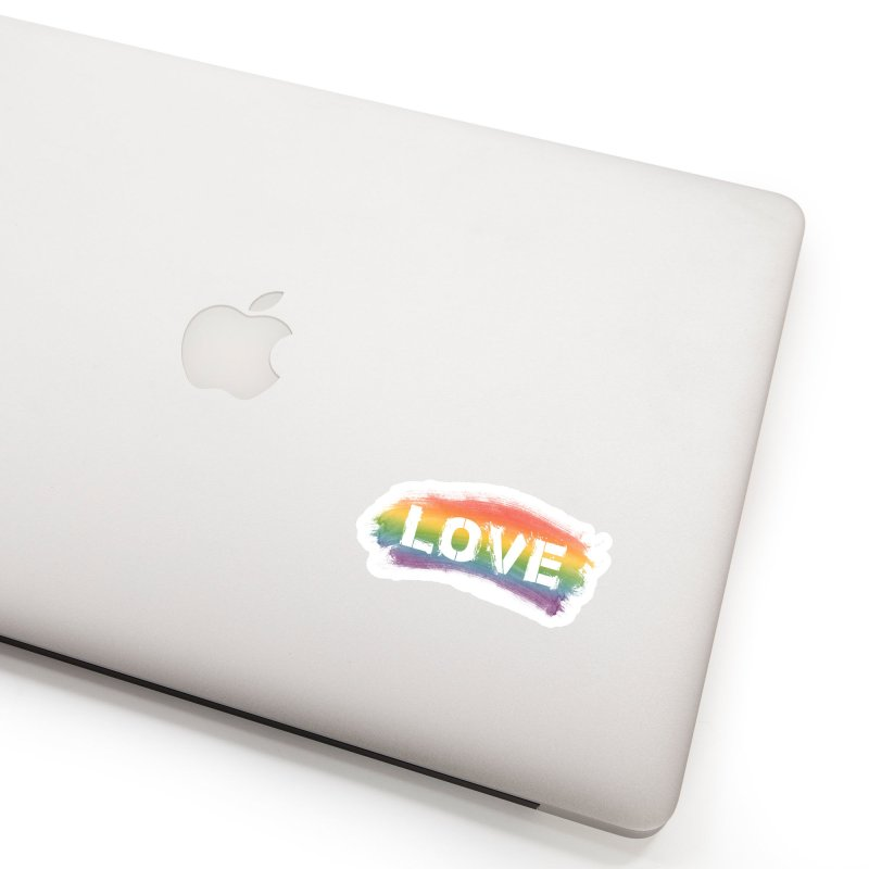 Colors of Love - White Accessories Sticker by boogleloo's Shop