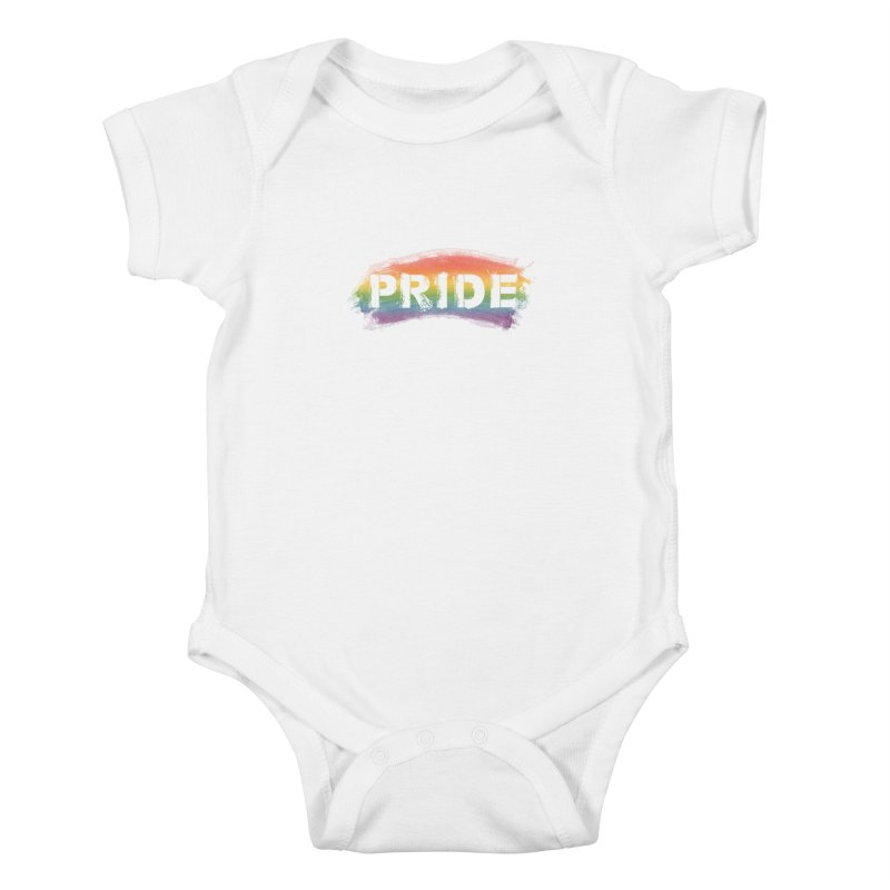 Colors of Pride - White Kids Baby Bodysuit by boogleloo's Shop