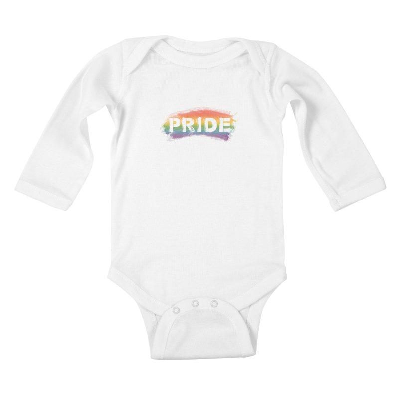 Colors of Pride - White Kids Baby Longsleeve Bodysuit by boogleloo's Shop