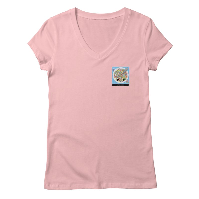 Cereal Killer Women's V-Neck by boogleloo's Shop