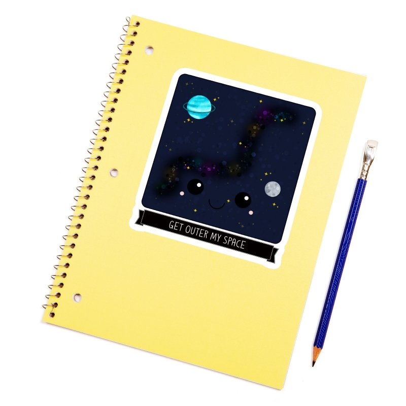 Get Outer My Space Accessories Sticker by boogleloo's Shop