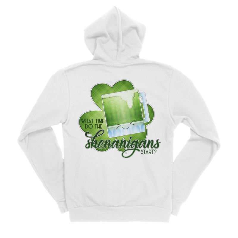 What Time Do The Shenanigans Start? Men's Sponge Fleece Zip-Up Hoody by boogleloo's Shop