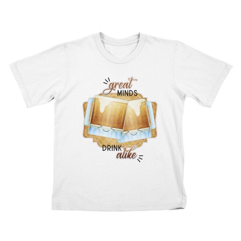Great Minds Drink Alike Kids T-Shirt by boogleloo's Shop