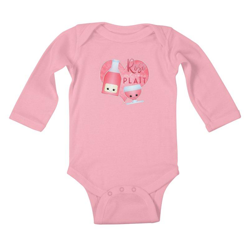 Rose S'il Vous Plait Kids Baby Longsleeve Bodysuit by boogleloo's Shop