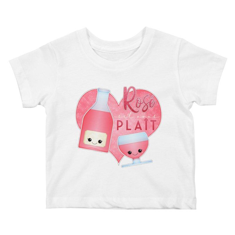 Rose S'il Vous Plait Kids Baby T-Shirt by boogleloo's Shop