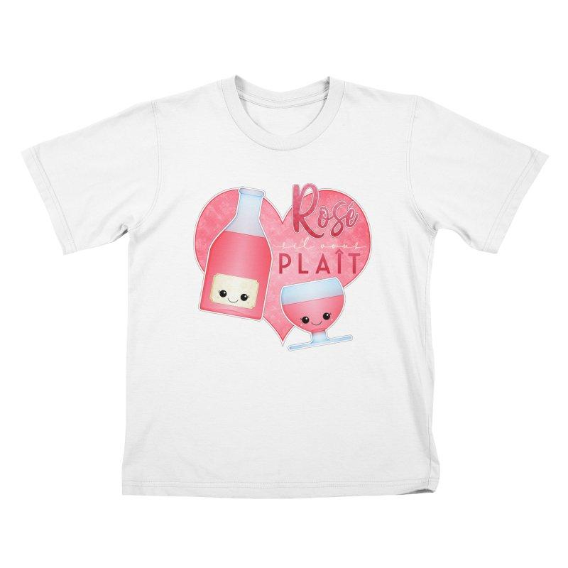 Rose S'il Vous Plait Kids T-Shirt by boogleloo's Shop