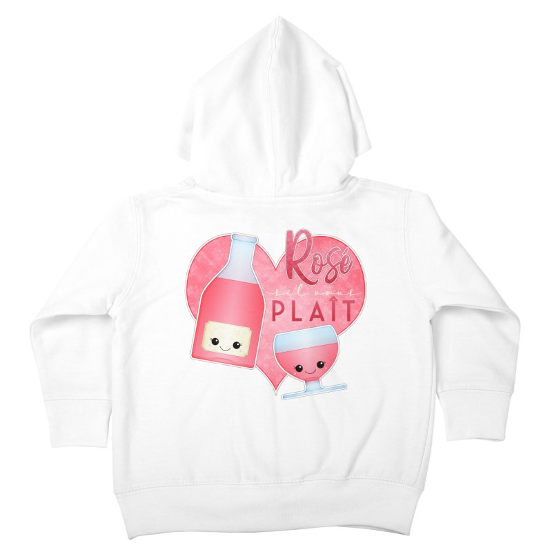 Rose S'il Vous Plait Kids Toddler Zip-Up Hoody by boogleloo's Shop