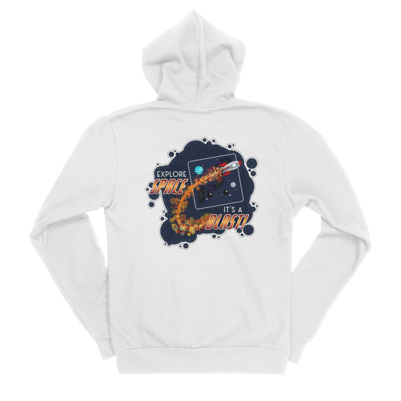Explore Space Men's Sponge Fleece Zip-Up Hoody by boogleloo's Shop