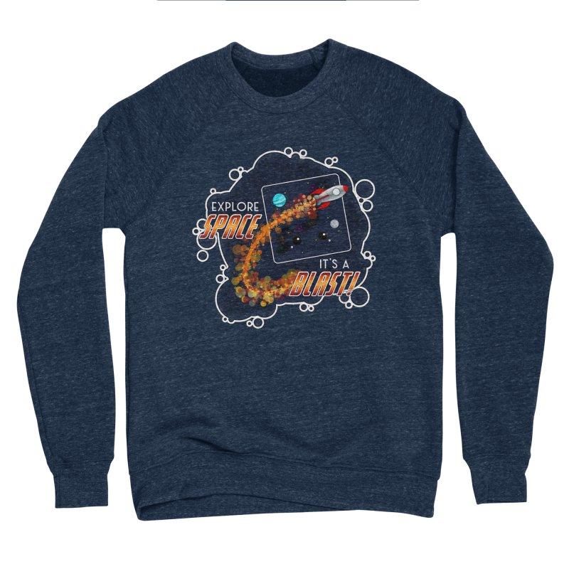 Explore Space Men's Sponge Fleece Sweatshirt by boogleloo's Shop