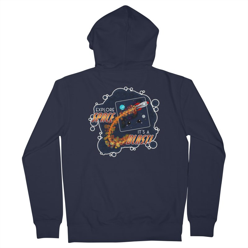Explore Space Men's Zip-Up Hoody by boogleloo's Shop