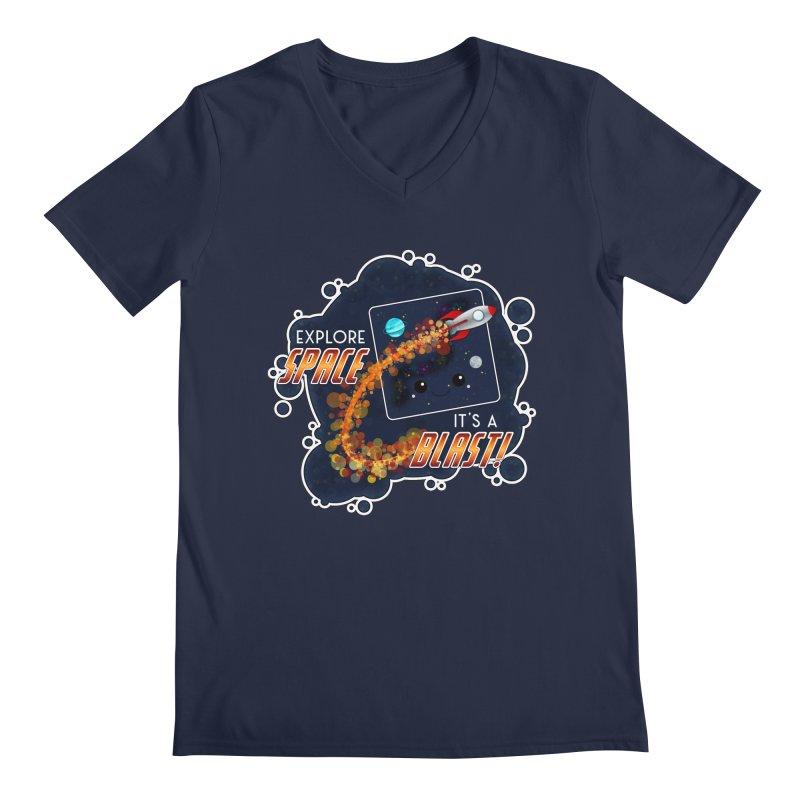 Explore Space Men's V-Neck by boogleloo's Shop