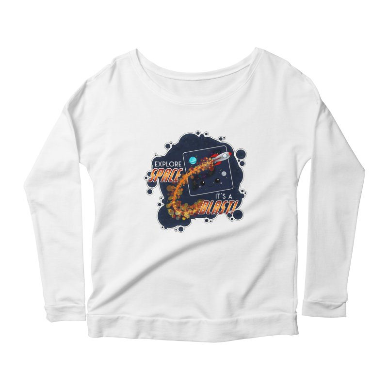 Explore Space Women's Longsleeve T-Shirt by boogleloo's Shop
