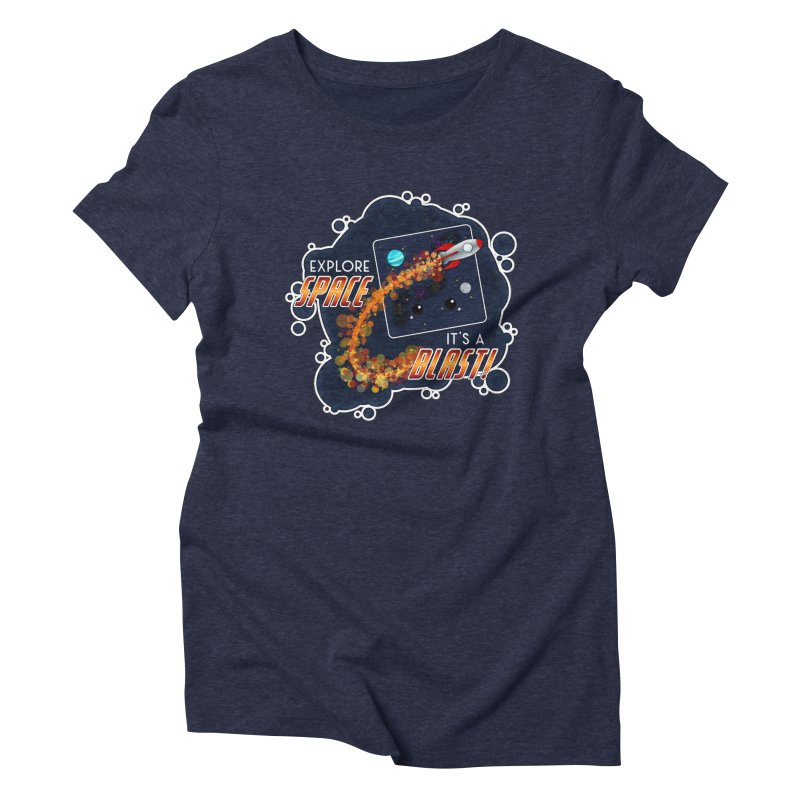 Explore Space Women's Triblend T-Shirt by boogleloo's Shop