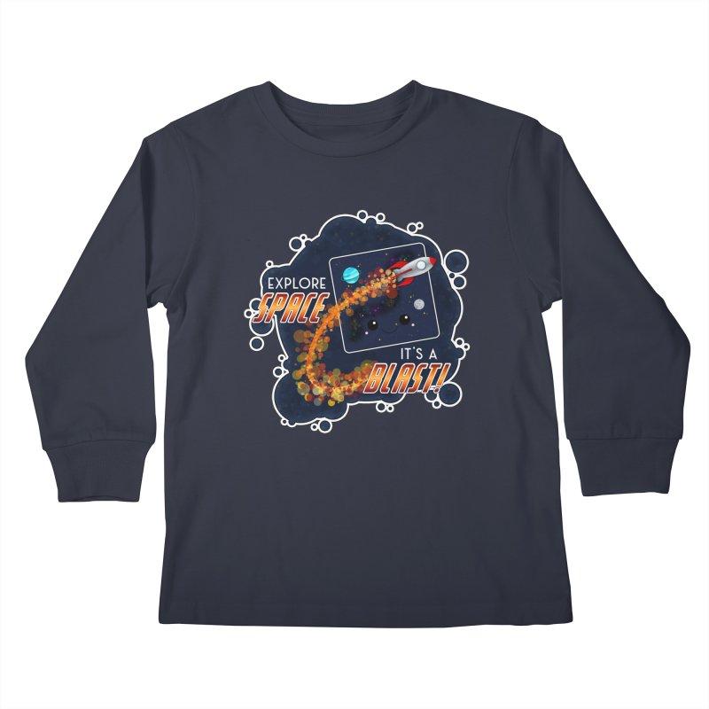 Explore Space Kids Longsleeve T-Shirt by boogleloo's Shop