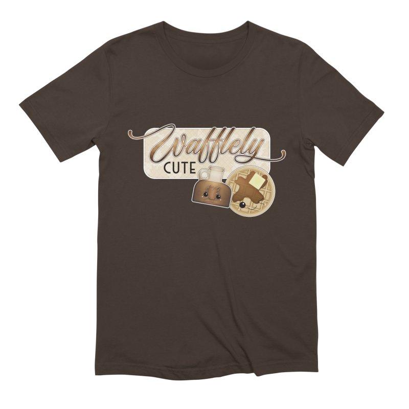 Wafflely Cute Men's T-Shirt by boogleloo's Shop