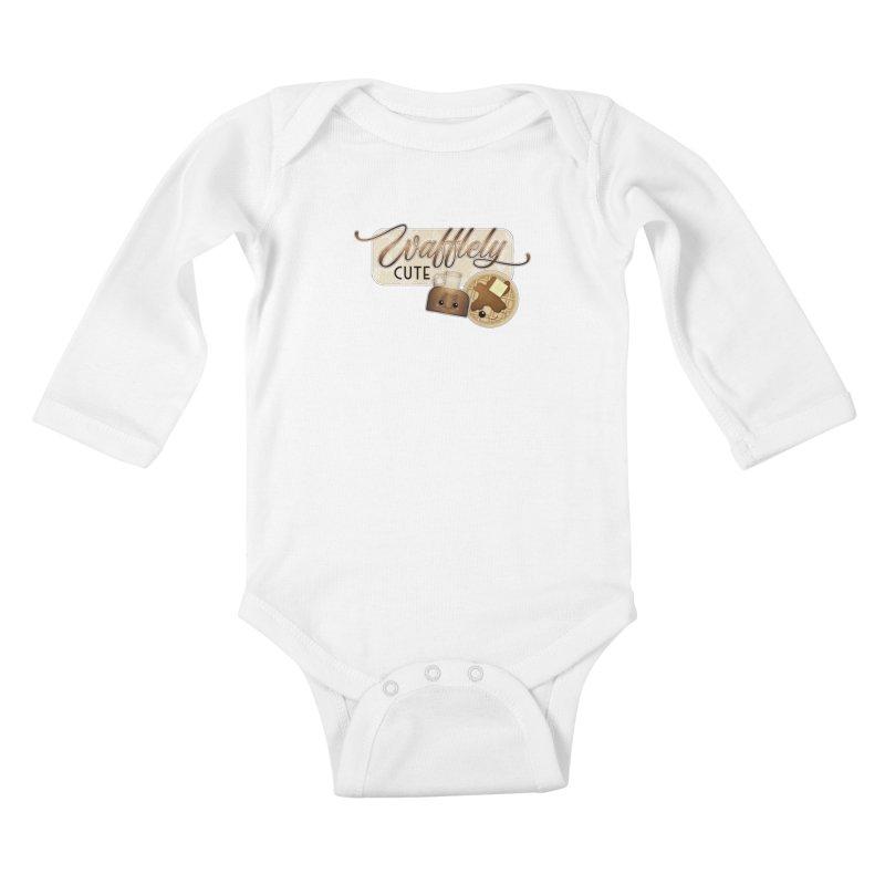 Wafflely Cute Kids Baby Longsleeve Bodysuit by boogleloo's Shop