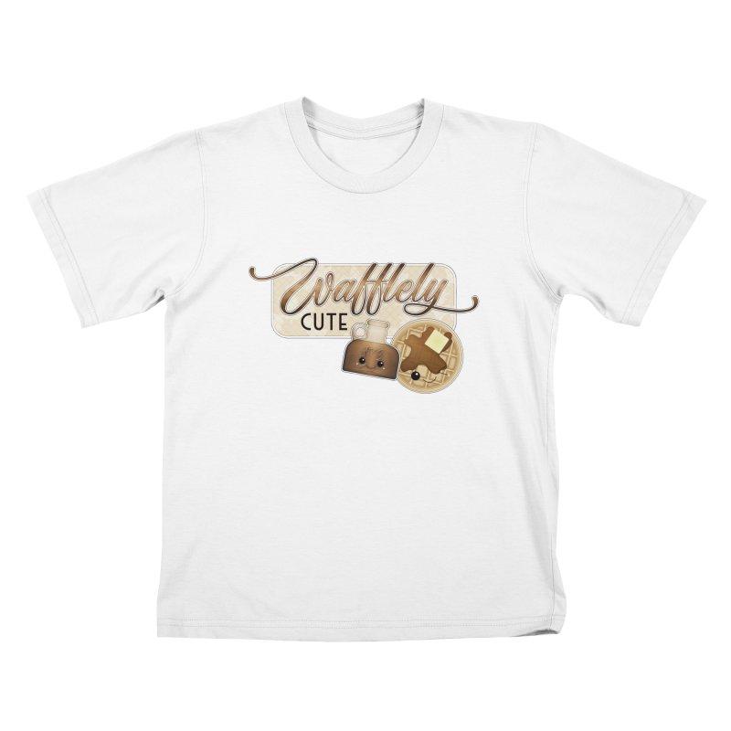 Wafflely Cute Kids T-Shirt by boogleloo's Shop