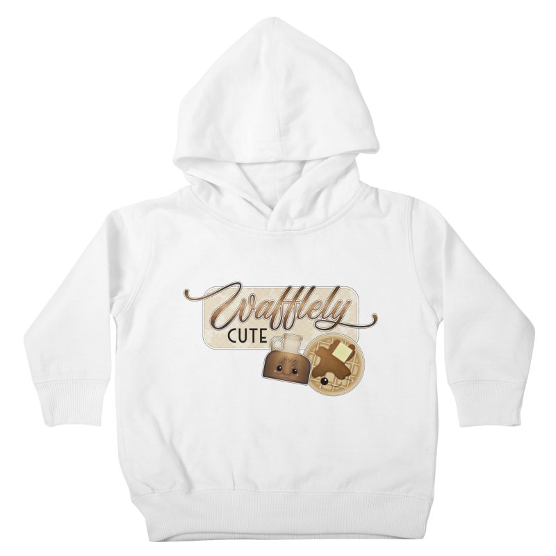 Wafflely Cute Kids Toddler Pullover Hoody by boogleloo's Shop