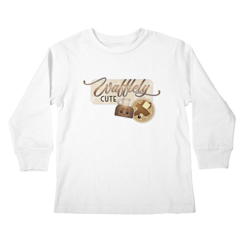 Wafflely Cute Kids Longsleeve T-Shirt by boogleloo's Shop