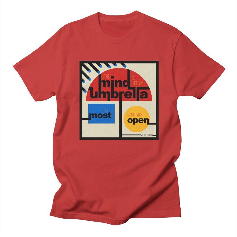 The Mind Is Like An Umbrella Men's Regular T-Shirt by boogleloo's Shop