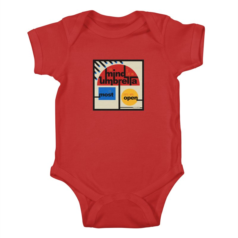 The Mind Is Like An Umbrella Kids Baby Bodysuit by boogleloo's Shop