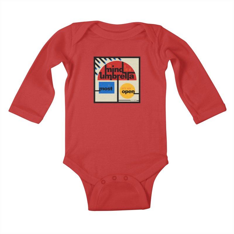 The Mind Is Like An Umbrella Kids Baby Longsleeve Bodysuit by boogleloo's Shop