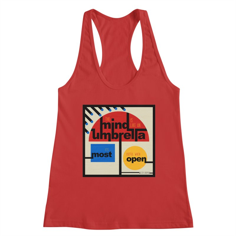 The Mind Is Like An Umbrella Women's Tank by boogleloo's Shop