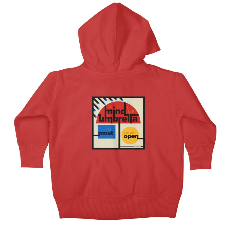 The Mind Is Like An Umbrella Kids Baby Zip-Up Hoody by boogleloo's Shop