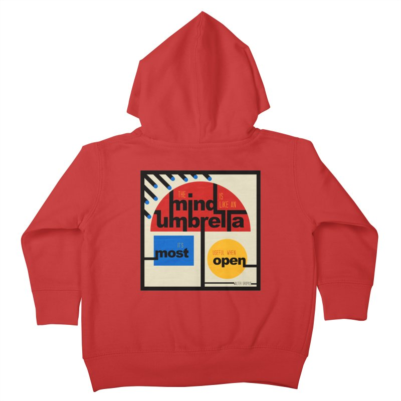 The Mind Is Like An Umbrella Kids Toddler Zip-Up Hoody by boogleloo's Shop