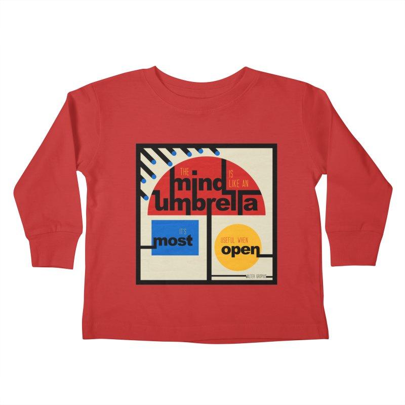 The Mind Is Like An Umbrella Kids Toddler Longsleeve T-Shirt by boogleloo's Shop