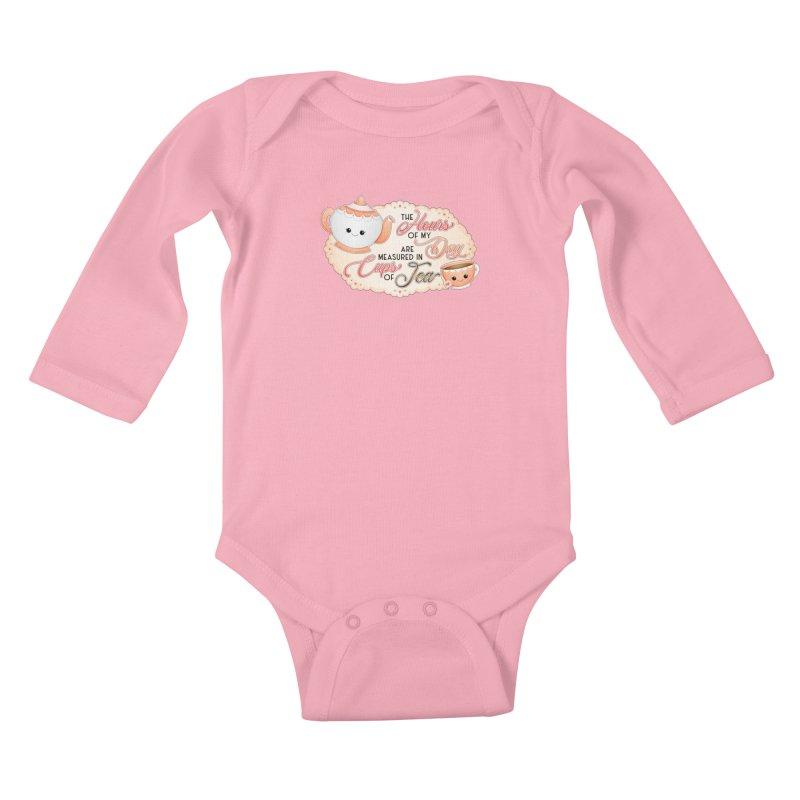 Cups Of Tea Kids Baby Longsleeve Bodysuit by boogleloo's Shop