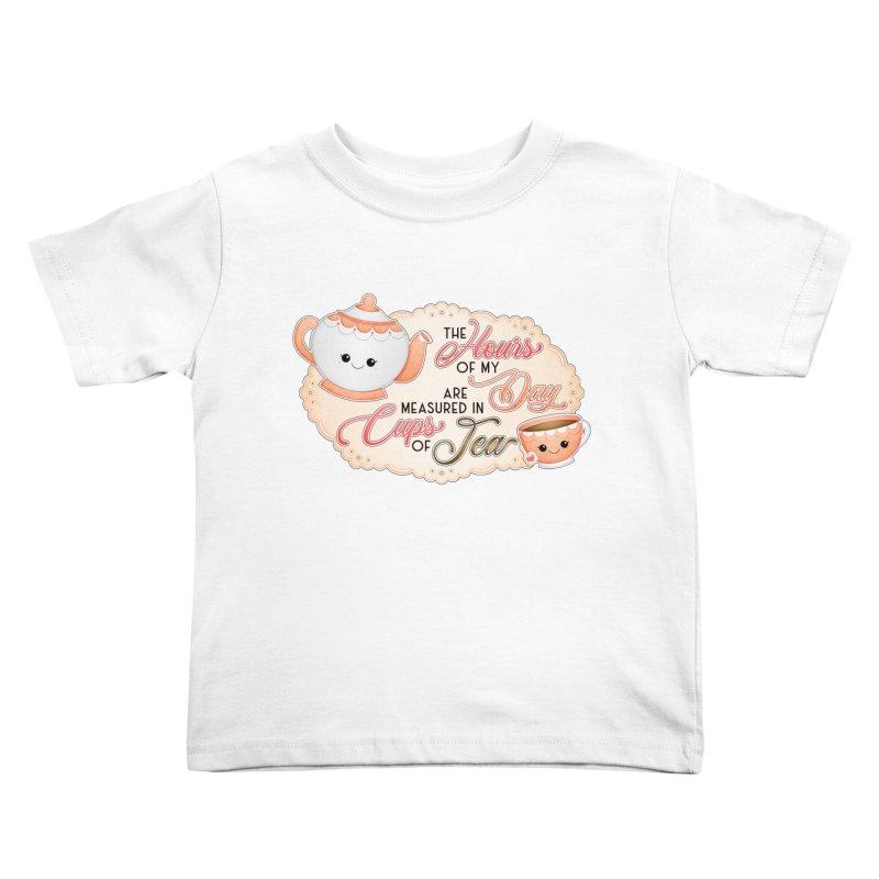 Cups Of Tea Kids Toddler T-Shirt by boogleloo's Shop