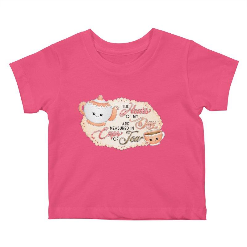 Cups Of Tea Kids Baby T-Shirt by boogleloo's Shop