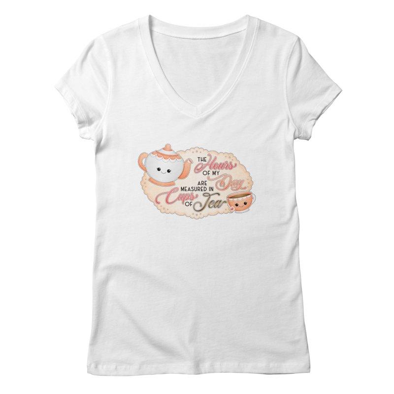 Cups Of Tea Women's V-Neck by boogleloo's Shop