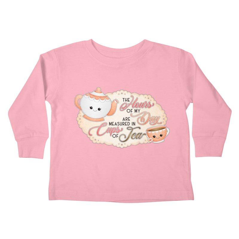 Cups Of Tea Kids Toddler Longsleeve T-Shirt by boogleloo's Shop