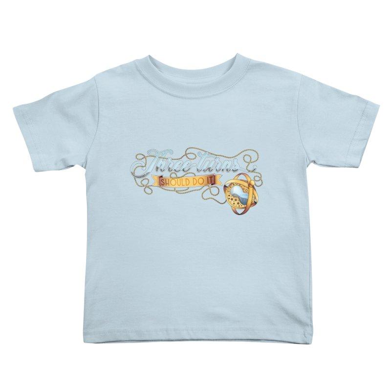 Three Turns Kids Toddler T-Shirt by boogleloo's Shop