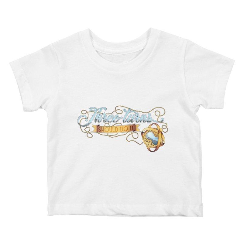Three Turns Kids Baby T-Shirt by boogleloo's Shop