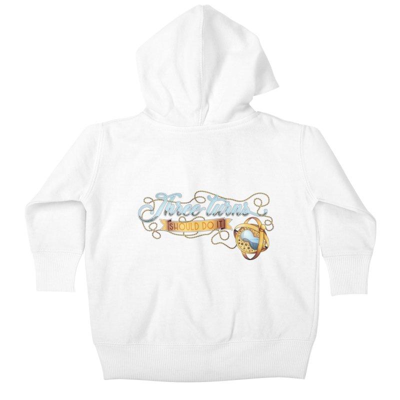 Three Turns Kids Baby Zip-Up Hoody by boogleloo's Shop