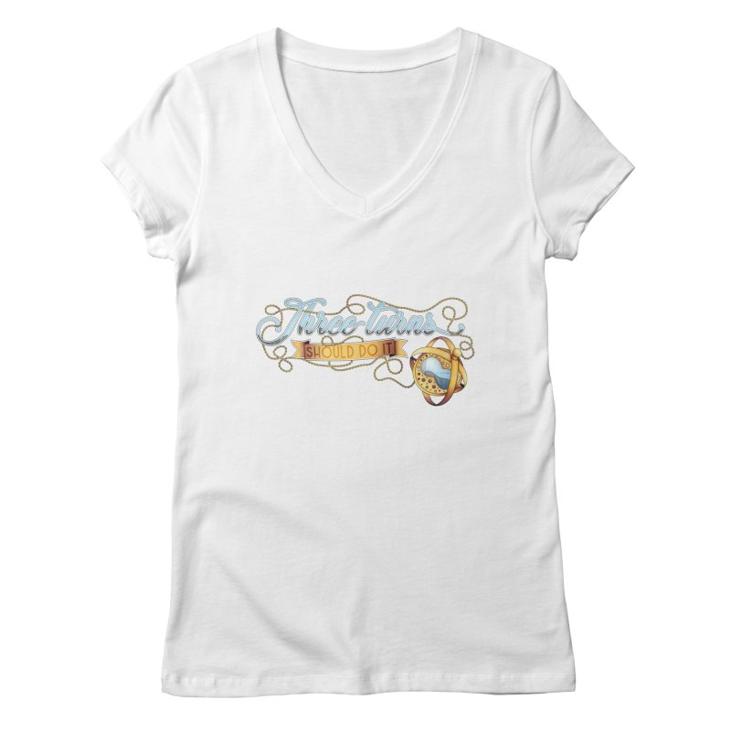 Three Turns Women's Regular V-Neck by boogleloo's Shop