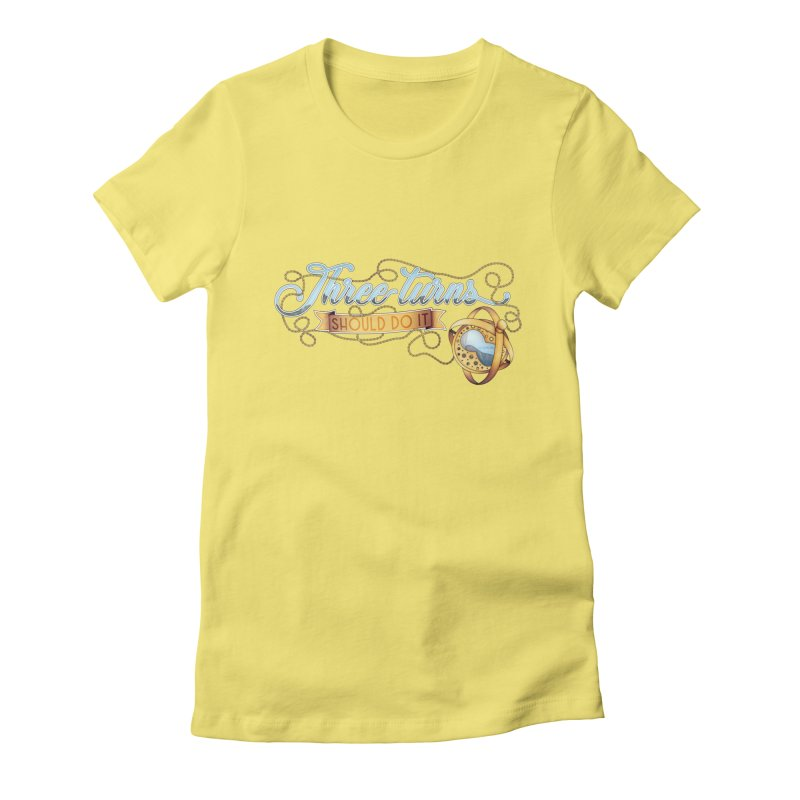 Three Turns Women's Fitted T-Shirt by boogleloo's Shop