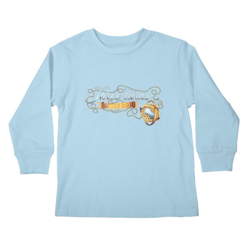 Three Turns Kids Longsleeve T-Shirt by boogleloo's Shop