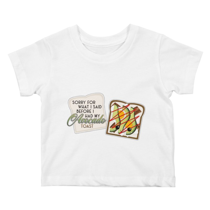 Before Avocado Toast Kids Baby T-Shirt by boogleloo's Shop