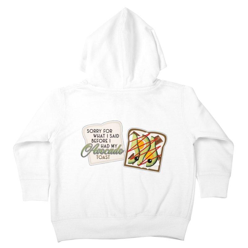 Before Avocado Toast Kids Toddler Zip-Up Hoody by boogleloo's Shop