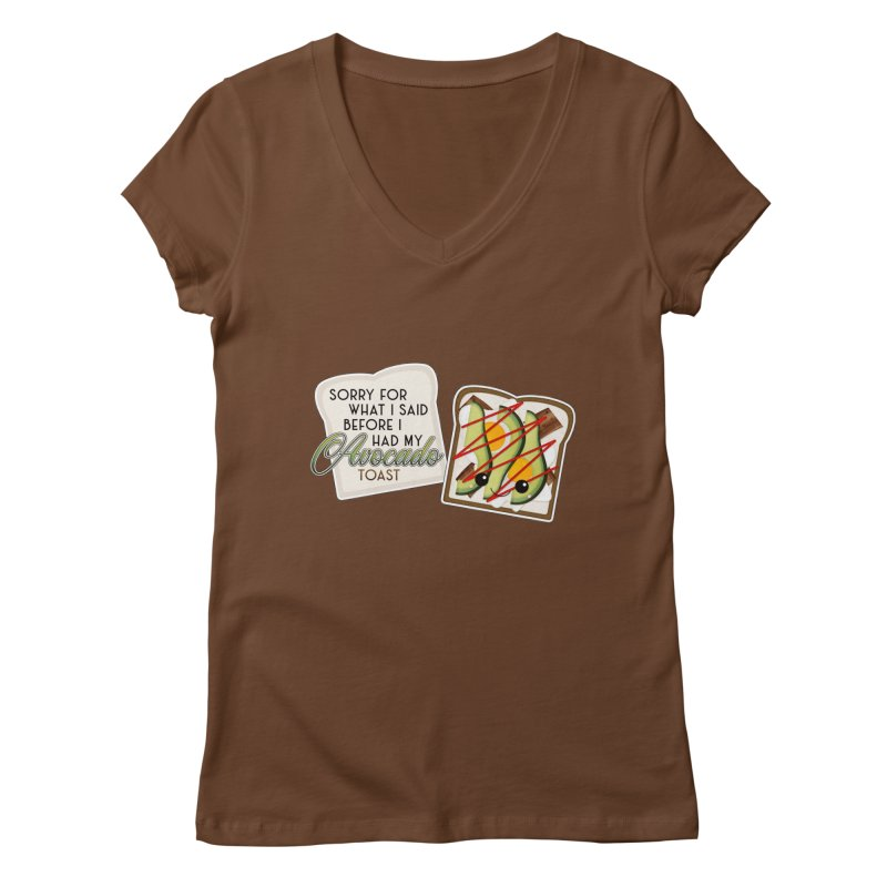 Before Avocado Toast Women's Regular V-Neck by boogleloo's Shop