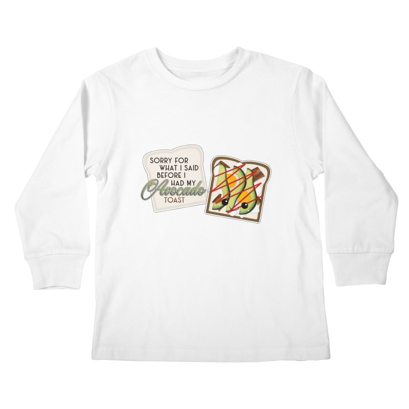 Before Avocado Toast Kids Longsleeve T-Shirt by boogleloo's Shop