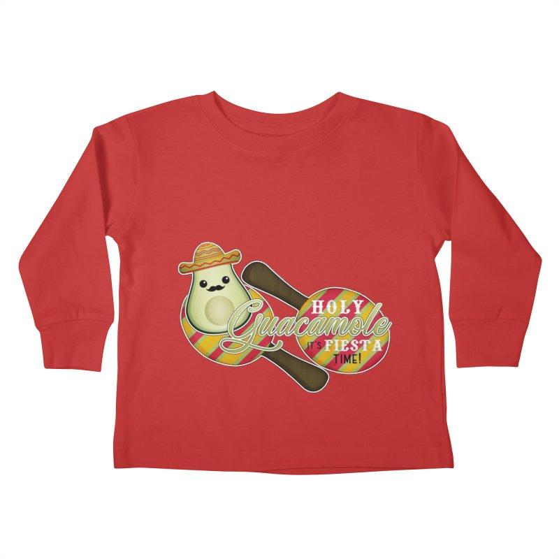 Holy Guacamole Kids Toddler Longsleeve T-Shirt by boogleloo's Shop